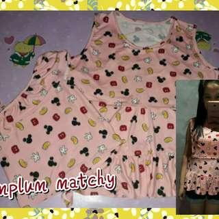 Peplum sleeveless/breastfeeding clothes