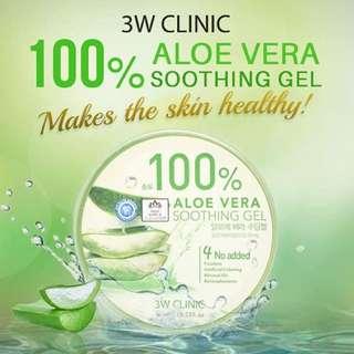 3W Clinic 100% Soothing Aloe Vera Gel