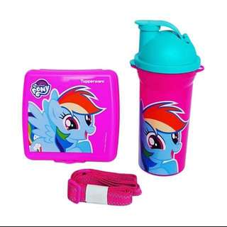 My Little Pony Tupperware Lunch Set