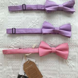 Otaa hand stitched bowties, sold as set or singular
