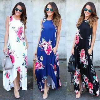 ON SALE FLORAL MAXI DRESS