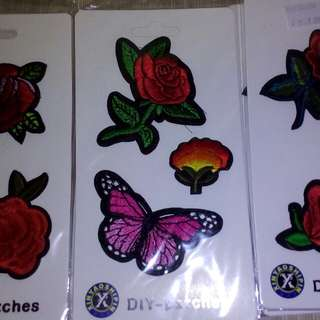 Roses iron patches