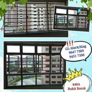 Aluminium Window & grille. Whatsapp 96477389