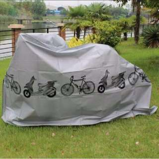GREY Bicycle/Scooter/Motorcycle Polyster Protector Waterproof, Dustproof Rain Dust Cover