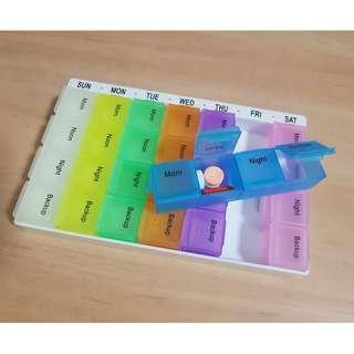 Pill Box (28 colorful compartments)