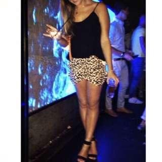Leopard print skort shorts/skirt