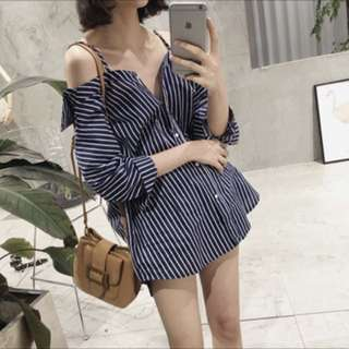 Oversized Stripes Blouse