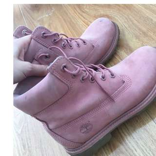 Authentic Pink Timberland shoes