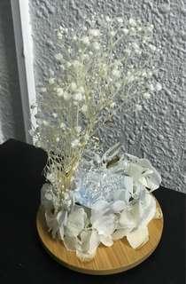 Deco item in glass jar