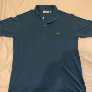 Blue Lacoste polo shirt (Classic fit S)