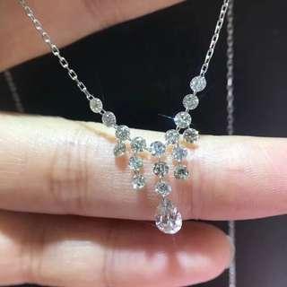 日本珠寶 100%真鑽 鑽石項鍊(1.3CT)