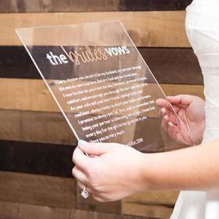Customised Wedding Vow Cards