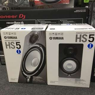 Yamaha HS5/i (pair) 1 year warranty