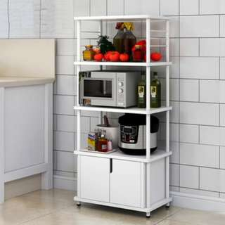 Kitchen Organizer with Cabinet (White)