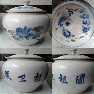 50年代罐,保卫祖國(繁體字、簡体字並用于一銘文)