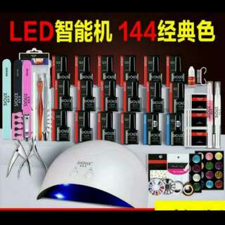 USED Gel manicure starter kit with LED UV Lamp.