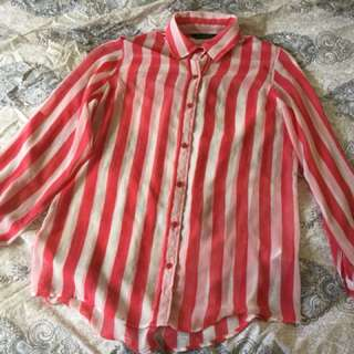 Glassons, Size 8, Striped Blouse