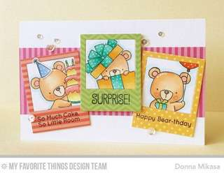 Birthday Rubber Stamps (Bear)