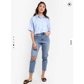 [ZALORA] Something Borrowed - Boxy Shirt