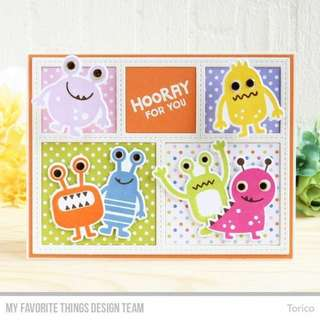 Monster Rubber Stamps (Card Making)