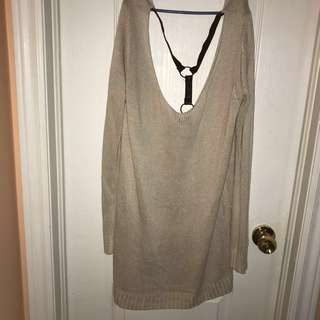 Sweater Dress with Open back