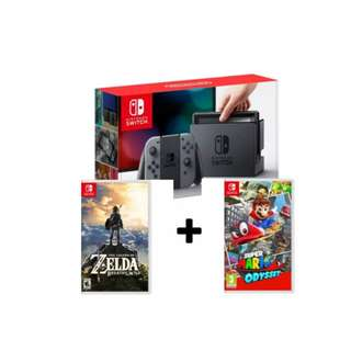 Brand New Nintendo Switch + Super Mario Odyssey + Zelda BOTW