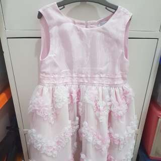 Dress pink and white flowers mabells