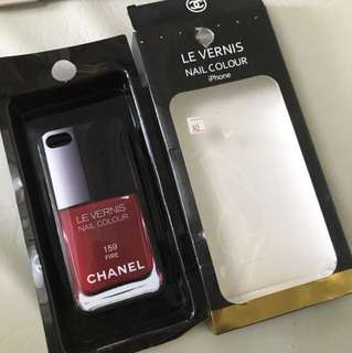 CHANEL Red Iphone 5 case