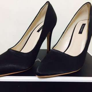 Zalora Black Satin Pumps