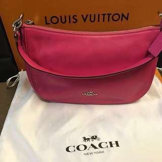 Coach Dahlia Pink Smooth Leather Chelsea Crossbody Handbag