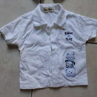 Terno white shirt and short for babies