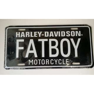 Authentic Harley-Davidson Fatboy Motorcycle Decorative Plates