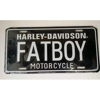 Authentic Harley-Davidson Fatboy Motorcycle Decorative Plates