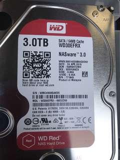 WD RED 3TB NAS HARDDISK