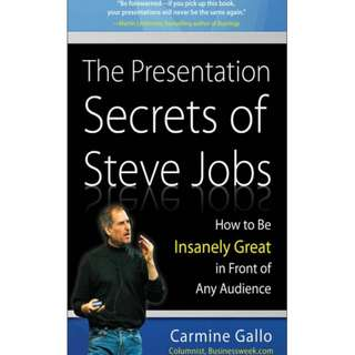 The Presentation Secrets of Steve Jobs eBook