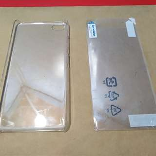 Lenovo S90 screen protector and hard case