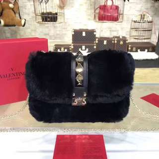 Valentino Fur Shoulder Bag