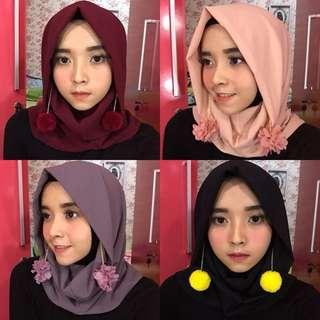 Hijab Arsa (Maroon, Peach, Lavender, Hitam)