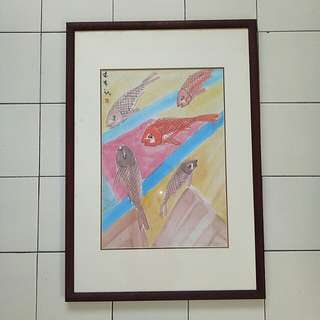 Painting with frame size 73x51cm