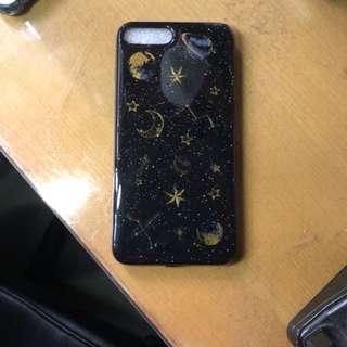 iPhone 7/8Plus 黑色閃粉星空手機殼