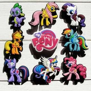 9pcs My Little Pony PVC Shoe Charms