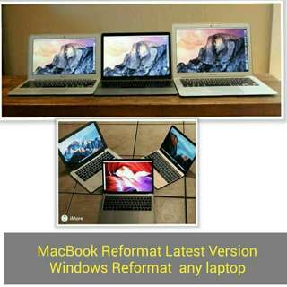 Reformat Macbook latest any laptop