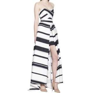 Aijek Majorie Bustier Stripe dress/gown