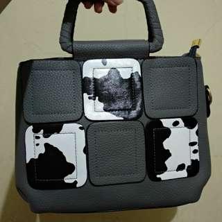 New Tas Sling Bag Grey Korea Import Selempang 100% good quality Abu Tua