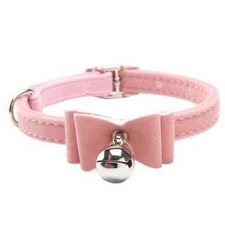 Pastel Pink Bow Collar