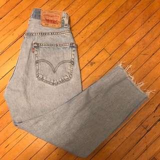 vintage reworked levis lightwash mom jeans