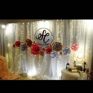 3D handmade flower art (decorate backdrop)