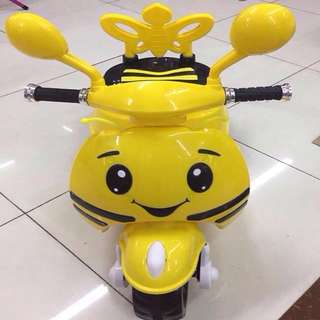 Yellow Bee Electric Scooter Rechargeable Motorcycle Toy