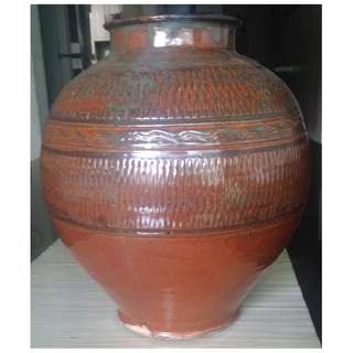 antique repro kamot jar glazed