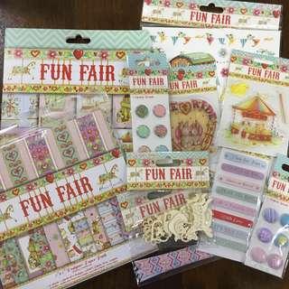 143pcs Fun Fair scrapbooking/card making kit